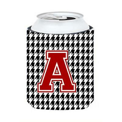 Carolines Treasures Letter A Monogram Houndstooth Can Or Bottle Hugger