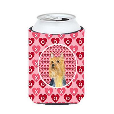 Silky Terrier Valentines Love And Hearts Can Or Bottle Hugger 12 oz.
