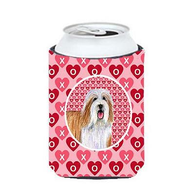 Bearded Collie Valentines Love And Hearts Can Or Bottle Hugger 12 oz.