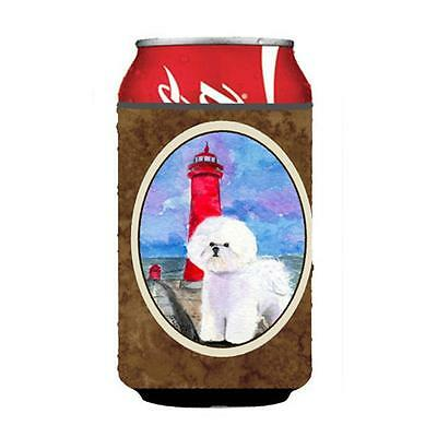 Carolines Treasures SS8891CC Lighthouse with Bichon Frise Can or Bottle Hugger