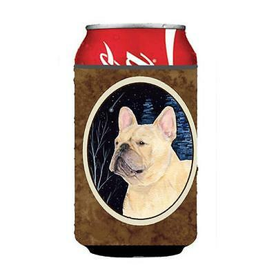 Starry Night French Bulldog Can or bottle sleeve Hugger 12 oz.