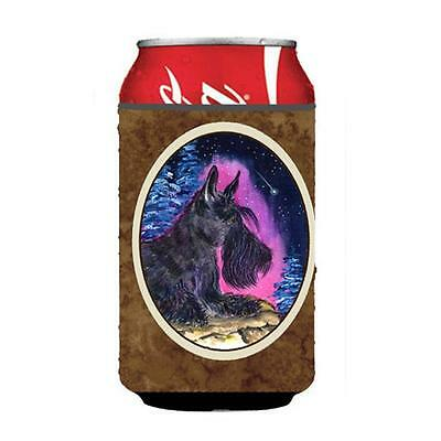 Starry Night Scottish Terrier Can or bottle sleeve Hugger 12 oz.