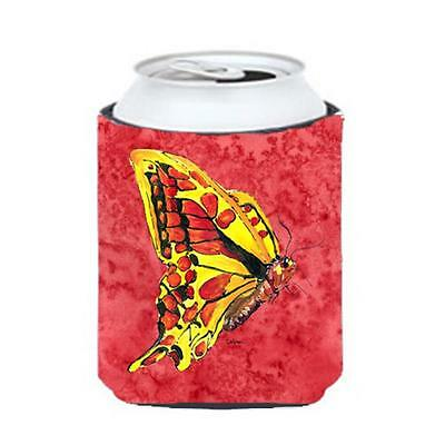 Carolines Treasures 8862CC Butterfly On Red Can Or bottle sleeve Hugger 12 oz.