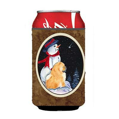 Carolines Treasures Snowman With Chow Chow Can Or bottle sleeve Hugger 12 oz.