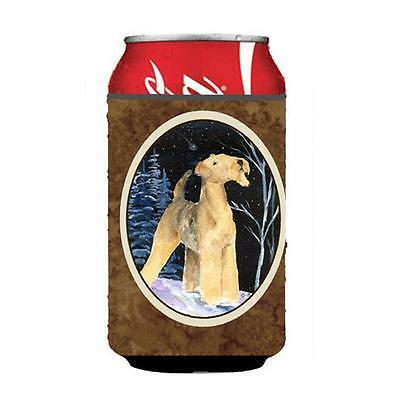 Carolines Treasures Starry Night Airedale Can Or bottle sleeve Hugger 12 oz.
