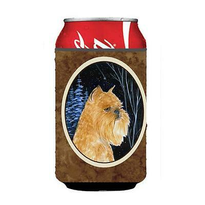 Starry Night Brussels Griffon Can Or bottle sleeve Hugger 12 oz.