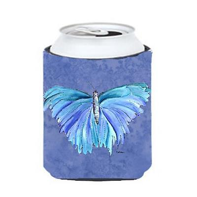 Carolines Treasures Butterfly On Slate Blue Can Or bottle sleeve Hugger 12 oz.