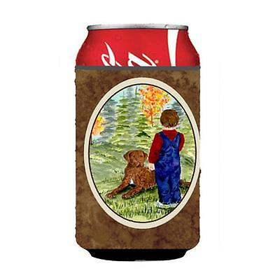Little Boy With His Chesapeake Bay Retriever Can Or bottle sleeve Hugger 12 oz.