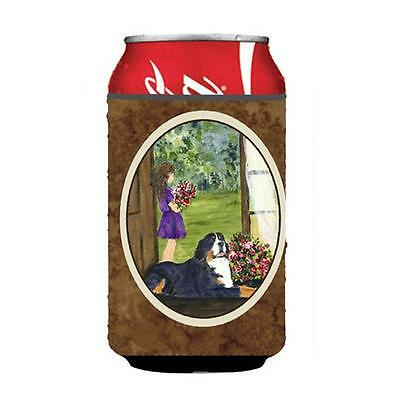 Little Girl With Her Bernese Mountain Dog Can Or bottle sleeve Hugger 12 oz.