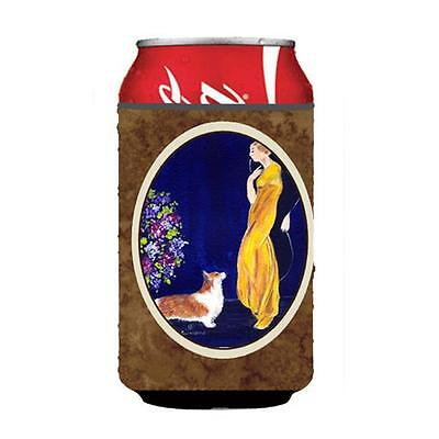 Carolines Treasures Lady With Her Corgi Can Or bottle sleeve Hugger 12 oz.