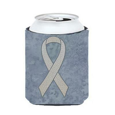 Clear Ribbon for Lung Cancer Awareness Can or Bottle Hugger, 12 Oz.