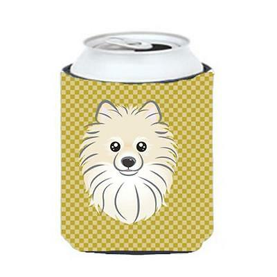 Carolines Treasures BB1135CC Tan Checkered Pomeranian Can or Bottle Hugger • AUD 45.90