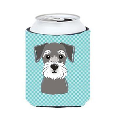 Carolines Treasures BB1136CC Blue Checkered Schnauzer Can or Bottle Hugger