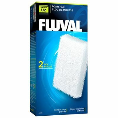 Fluval U2 Aquarium Stage 1 Filter Foam Pads (2 Pack) *Genuine*