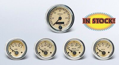 VDO Heritage Chrome 5 Gauge Kit with 3-3/8 Speedometer for GM - A2C59519572