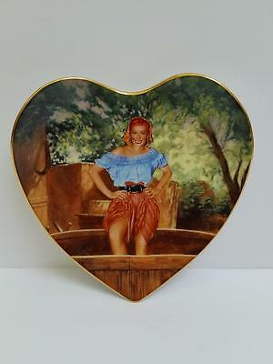 """I Love Lucy Hamilton Collection Heart Plate """"Soaking Up Local Color"""" by Morgan"""