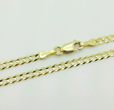 14k Solid Yellow Gold High Polish Cuban Curb Chain Anklet 10""