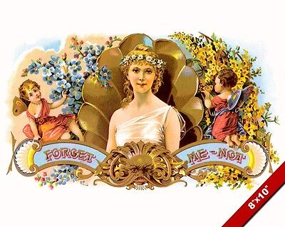 Vintage Beautiful Young Venus Woman Forget Me Not Ad Poster Art Canvas Print