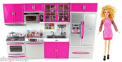 5 Of 6 My Modern Kitchen Full Deluxe Kit Battery Operated Toy Doll Kitchen  Playset
