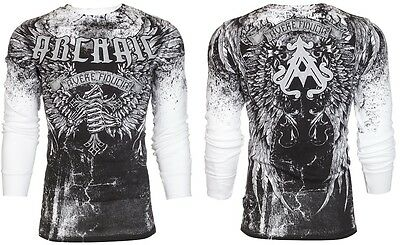 Archaic AFFLICTION Men THERMAL T-Shirt HOLY MAN Wings Tattoo Biker M-3XL $58