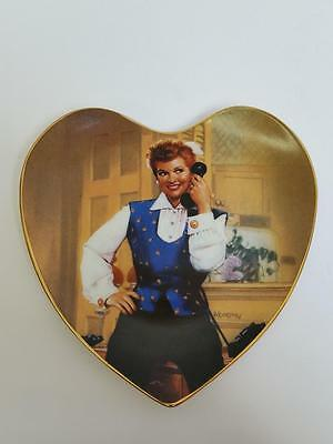 """I Love Lucy Hamilton Collection Heart Plate """"Chatter Box Ricarda"""" Morgan 0538A"""