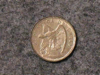 1916 Chile Cinco Centavos - 5 Cents - Old Foreign World Coin