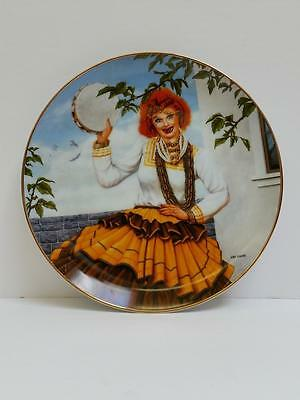 """I Love Lucy Hamilton Collection Plate """"Queen of the Gypies"""" by Jim Kritz #0129A"""