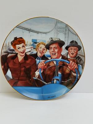 """I Love Lucy Hamilton Collection Plate """"California, Here We Come """" by Jim Kritz"""