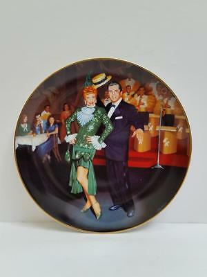 """I Love Lucy Hamilton Collection Plate """"Night at the Copa"""" by Jim Kritz#2864A New"""