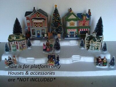 Christmas Village Display Base Platform CH21 Dept 56 Lemax Dickens Snow Village