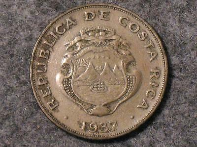 1937 Costa Rica One Colon - America Central Bncr - Foreign World Coin