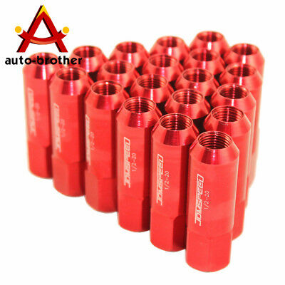 Red Jdmspeed Extended Forged Aluminum Tuner Racing Lug Nut For Mustang Ford 20Pc