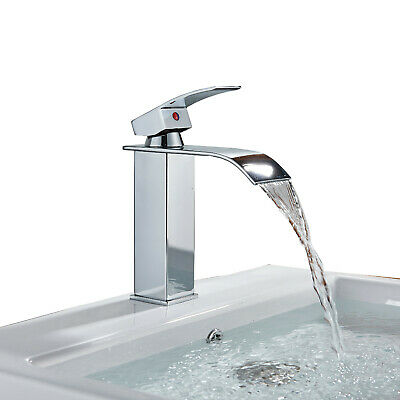LED Waterfall Widespread Bathroom Basin Faucet Oil Rubbed Bronze Sink Mixer Tap