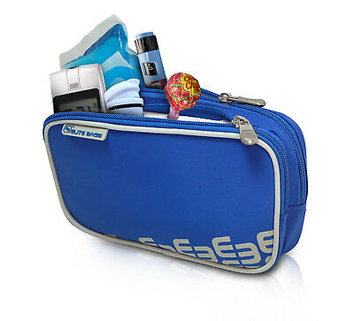 Elite Cool Bag / Pouch for Insulin & Diabetic Kit Organiser Blue with cool pack