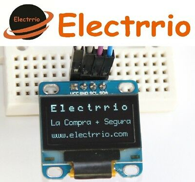 "EL0443 Display OLED 0,96 Blanco IIC I2C Modulo 128x64 0,96"" LED Arduino"