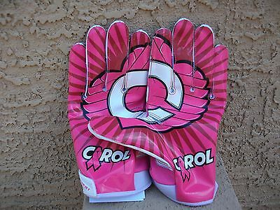 Larry Fitzgerald Game Used Receivers Pink Ribbon Gloves Jsa Coa