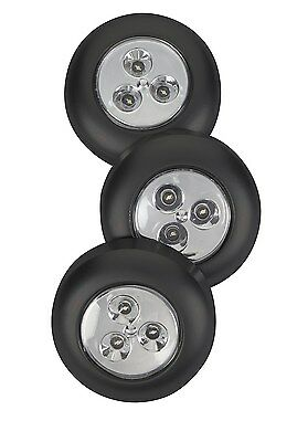 Fulcrum Products Led Battery-Operated Stick-On Tap Light, Black, Black