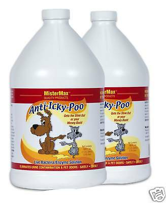 Anti Icky Poo Urine/feces Pet Odor Enzyme Remover 2 Gal