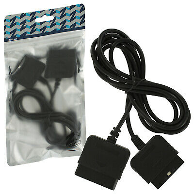 ZedLabz 1.8M extension cable cord lead for Sony PS2 & PS1 controllers - Black
