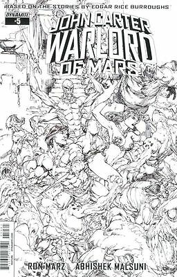 John Carter Warlord OF Mars #5F sketch variant _DYNAMITE_ NM