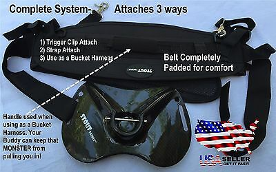 Carbon Fiber Fish Fighting Belt System