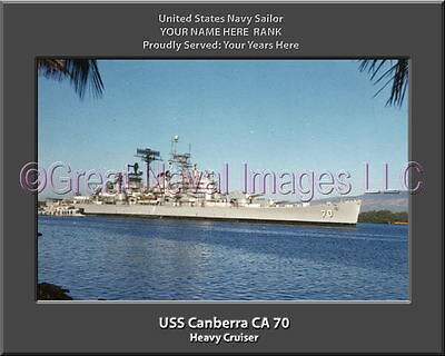 USS Vincennes CA 44 Personalized Canvas Ship Photo Print Navy Veteran Gift