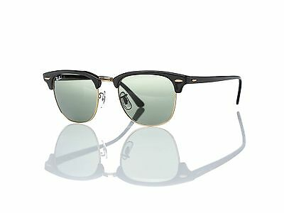 5441dcbff693c New Authentic RAY-BAN Sunglasses RB 3016 Clubmaster W0365 51MM Black Frame
