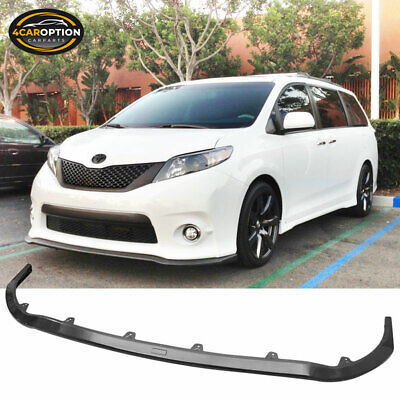 Fit 11-16 Toyota Sienna SE Only Mp Style Front Bumper Lip Spoiler ABS