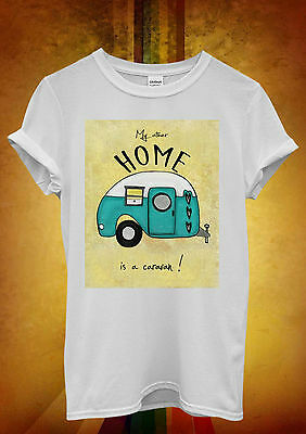 My Other Home is a Caravan Fun Men Women Unisex T Shirt Tank Top Vest 962