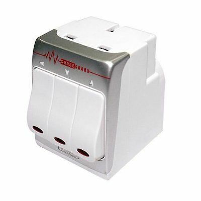 Masterplug Indoor Power MSWRG3-MS 3-Socket 13 amp Surge Protected Adaptor