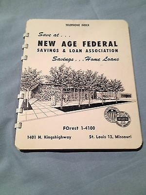 Vintage Telephone Index--New Age Federal Savings & Loan, St. Louis 12, Missouri