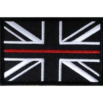 Thin Red Line Fire Fighters Union Jack VELCRO® backed patch (Fire Service Badge)