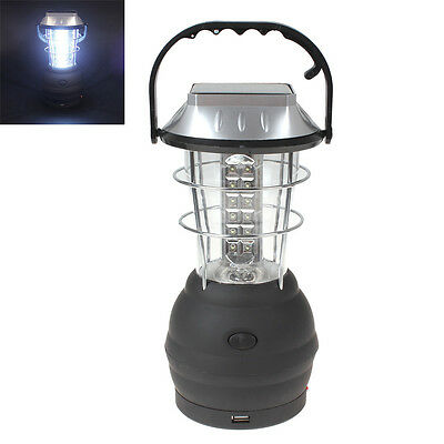 36 LED Hand Crank Solar Lantern Bright Rechargeable Outdoor Camping Lamp