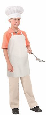 Chef Baker Cook White Paper Apron Child Dress Up Costume Accessory NEW